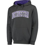 Men's Colosseum Charcoal Northwestern Wildcats Arch Pullover Hoodie