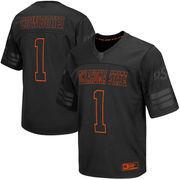 Men's Colosseum #1 Black Oklahoma State Cowboys Blackout Football Jersey