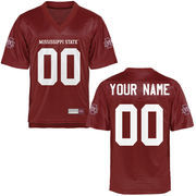 Mississippi State Bulldogs Personalized Football Name & Number Jersey - Maroon