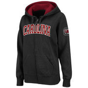 Women's Stadium Athletic Black South Carolina Gamecocks Arched Name Full-Zip Hoodie