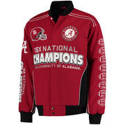 Men's Crimson Alabama Crimson Tide Commemorative Twill Jacket