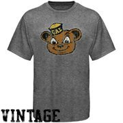 Cal Bears Distressed Big Logo Ring Spun T-Shirt - Gray