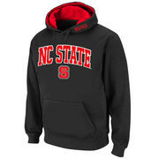 Men's Stadium Athletic Charcoal NC State Wolfpack Arch & Logo Pullover Hoodie