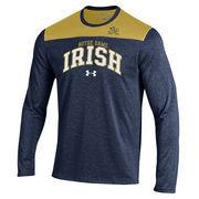 Men's Under Armour Navy Notre Dame Fighting Irish Foundation Tech Performance T-Shirt