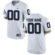 Men's Brand Jordan White Michigan Wolverines Custom Replica Football Jersey