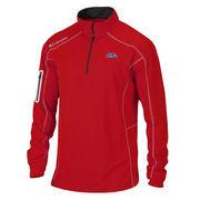 Men's Columbia Golf Red Ole Miss Rebels Shotgun Omni-Wick Quarter-Zip Pullover Jacket
