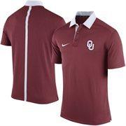 Men's Nike Crimson Oklahoma Sooners 2015 Coaches Sideline Dri-FIT Polo