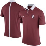 Men's Nike Crimson Oklahoma Sooners 2015 Coaches Sideline Dri-FIT Polo