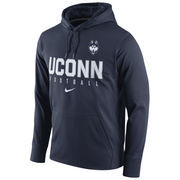 Men's Nike Navy UConn Huskies Circuit Football Pullover Performance Hoodie