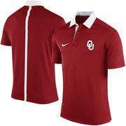 Men's Nike Crimson Oklahoma Sooners Coaches Sideline Dri-FIT Polo