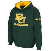 Youth Stadium Athletic Green Baylor Bears Big Logo Pullover Hoodie