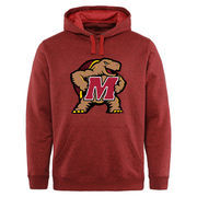 Men's Red Maryland Terrapins Jumbo Mascot Marled Pullover Hoodie