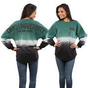 Women's Green Ohio Bobcats Ombre Long Sleeve Dip-Dyed Spirit Jersey