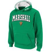 Men's Stadium Athletic Kelly Green Marshall Thundering Herd Arch & Logo Pullover Hoodie