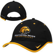 Mens Southern Miss Golden Eagles Nike Black Coaches Performance Adjustable Hat