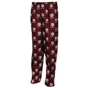 Texas A&M Aggies Youth Maroon Team Logo Flannel Pajama Pants
