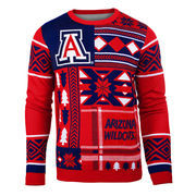 Men's Navy Arizona Wildcats Patches Ugly Sweater