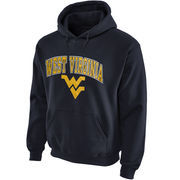Mens Navy Blue West Virginia Mountaineers Arch Over Logo Hoodie