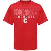 Cornell Big Red Frame Lacrosse T-Shirt - Carnelian