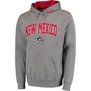 Men's Gray New Mexico Lobos Arch & Logo Pullover Hoodie