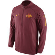 Men's Nike Cardinal Iowa State Cyclones Hybrid Quarter-Zip Performance Jacket