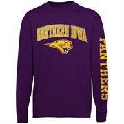 Men's New Agenda Purple Northern Iowa Panthers Distressed Arch & Logo Long Sleeve T-Shirt
