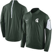 Men's Nike Green Michigan State Spartans 2015 Football Coaches Sideline Half-Zip Wind Jacket