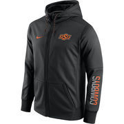 Men's Nike Black Oklahoma State Cowboys Circuit Full-Zip Performance Hoodie