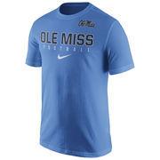Men's Nike Light Blue Ole Miss Rebels 2016 Football Practice T-Shirt