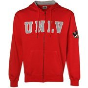 UNLV Rebels Scarlet Classic Twill Full Zip Hoodie Sweatshirt