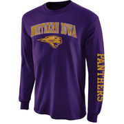Men's New Agenda Purple Northern Iowa Panthers Distressed Arch & Logo Long Sleeve T-Shirt