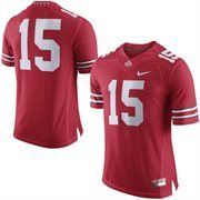 Men's Nike Scarlet Ohio State Buckeyes No. 15 Limited Football Jersey