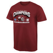 Men's Maroon Mississippi State Bulldogs 2015 Belk Bowl Champions Hash Mark T-Shirt