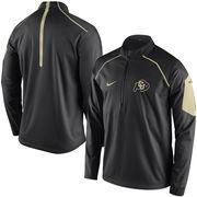 Men's Nike Black Colorado Buffaloes 2015 Coaches Sideline Alpha Fly Rush 1/4 Zip Performance Jacket
