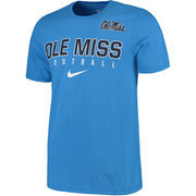 Men's Nike Light Blue Ole Miss Rebels 2016 Football Practice T-Shirt