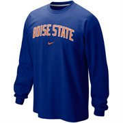 Nike Boise State Broncos Classic Arch Long Sleeve T-Shirt - Royal Blue