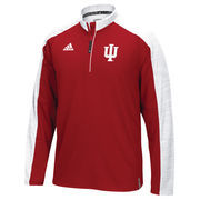 Men's adidas Red Indiana Hoosiers 2016 Football Coaches 1/4 Zip Jacket