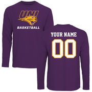 Men's Purple Northern Iowa Panthers Personalized Basketball Long Sleeve T-Shirt