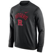 Men's Nike Black Rutgers Scarlet Knights Circuit Sweatshirt