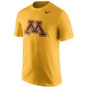 Men's Nike Gold Minnesota Golden Gophers Logo T-Shirt