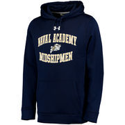 Men's Under Armour Navy Navy Midshipmen MVP Logo Pullover Hoodie