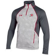Men's Under Armour Gray Utah Utes Limitless 1/4 Zip Pullover Performance Jacket
