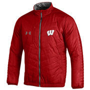 Men's Under Armour Red Wisconsin Badgers Accelerate Full-Zip Performance Jacket