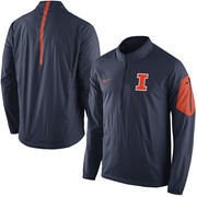 Men's Nike Navy Illinois Fighting Illini 2015 Football Coaches Sideline Half-Zip Wind Jacket