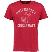 Men's '47 Brand Red Cincinnati Bearcats Vintage Scrum Short Sleeve T-Shirt