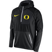 Men's Nike Black Oregon Ducks 2016 Sideline Vapor Fly Rush Half-Zip Pullover Jacket