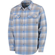 Men's Columbia Light Blue North Carolina Tar Heels Collegiate Flare Gun Flannel Long Sleeve Button-Up Shirt