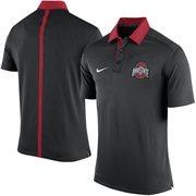 Men's Nike Black Ohio State Buckeyes 2015 Coaches Sideline Dri-FIT Polo