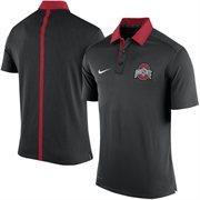 Men's Nike Black Ohio State Buckeyes 2015 Coaches Sideline Dri-FIT Polo