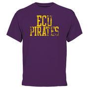 Men's Purple East Carolina Pirates Straight Out T-Shirt